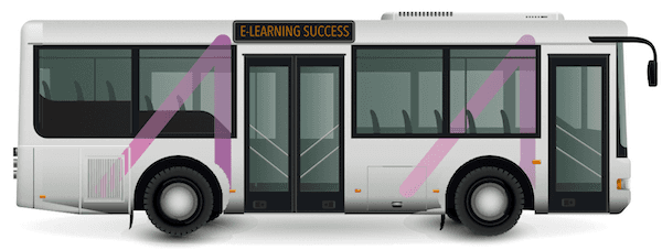 """Imagine of a School Bus that says """"E-Learning Success"""""""